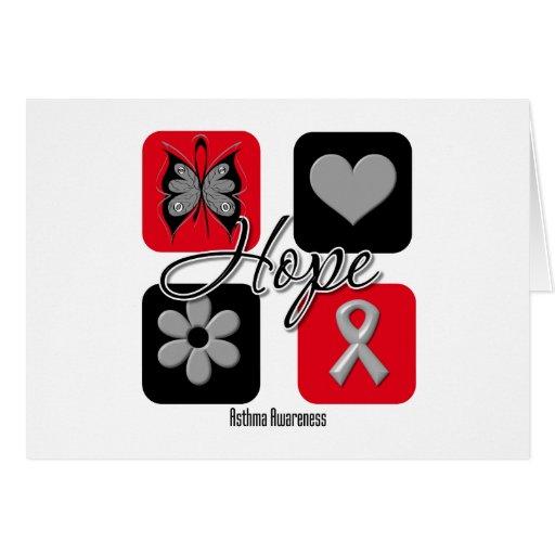 El amor de la esperanza del asma inspira concienci tarjeta de felicitación