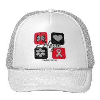 El amor de la esperanza del cáncer de cerebro insp gorras de camionero