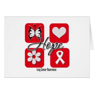 El amor de la esperanza del cáncer de pulmón inspi felicitaciones