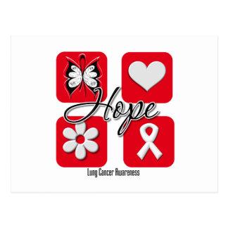 El amor de la esperanza del cáncer de pulmón inspi postales