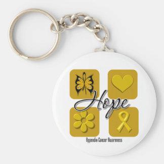 El amor de la esperanza del cáncer del apéndice in llavero personalizado