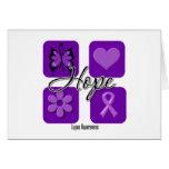 El amor de la esperanza del lupus inspira concienc felicitación