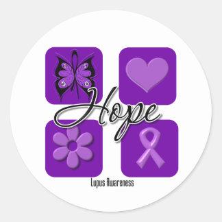 El amor de la esperanza del lupus inspira pegatina redonda