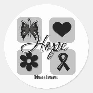 El amor de la esperanza del melanoma inspira pegatina redonda