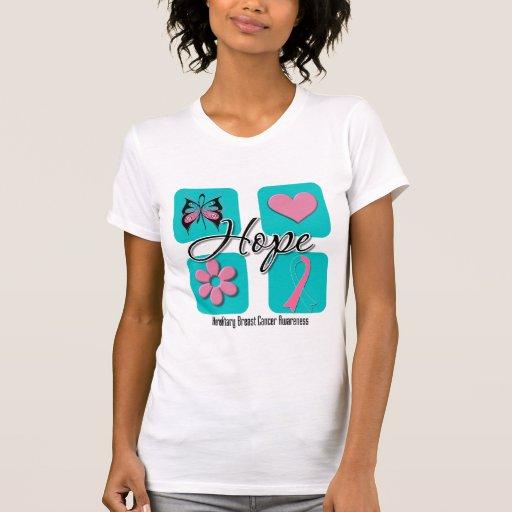 El amor de la esperanza inspira al cáncer de pecho camiseta
