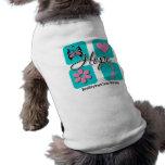 El amor de la esperanza inspira al cáncer de pecho camisa de mascota