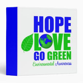 El amor de la esperanza va carpeta de la tierra