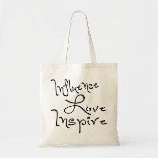 El amor de la influencia inspira bolsa tela barata