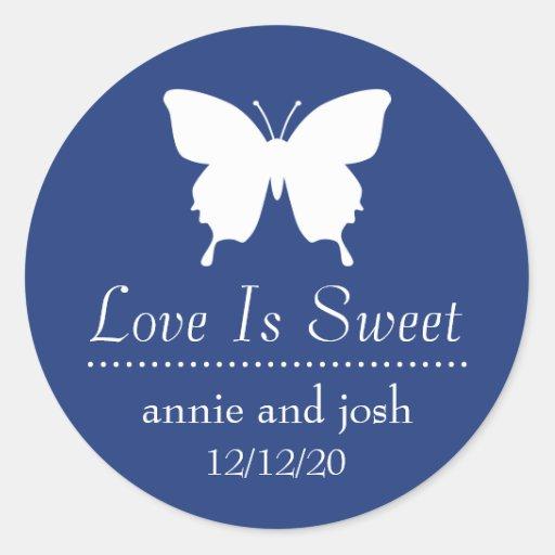 El amor de la mariposa es etiquetas dulces (los az