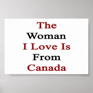 El amor de la mujer I es de Canadá Impresiones