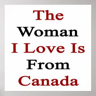 El amor de la mujer I es de Canadá Posters