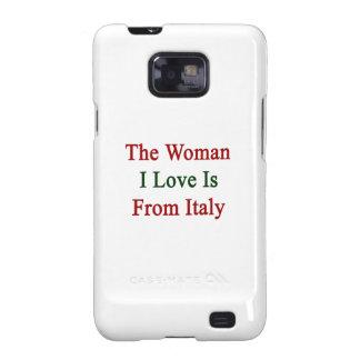 El amor de la mujer I es de Italia Galaxy S2 Carcasa