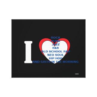 El amor de la música de BLERD, amor es todo Lona Envuelta Para Galerías