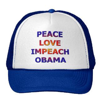 El amor de la paz acusa a Obama Gorros Bordados