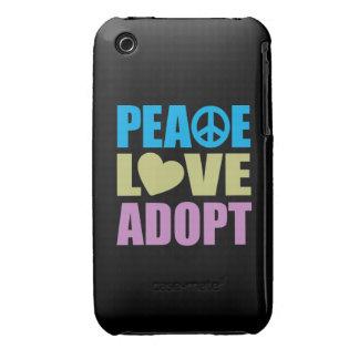 El amor de la paz adopta Case-Mate iPhone 3 carcasas