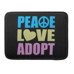 El amor de la paz adopta funda macbook pro