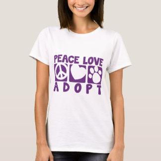 El amor de la paz adopta playera
