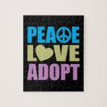 El amor de la paz adopta rompecabeza con fotos