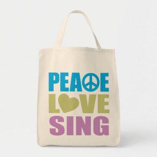 El amor de la paz canta bolsa de mano