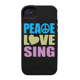 El amor de la paz canta vibe iPhone 4 funda