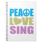 El amor de la paz canta libro de apuntes