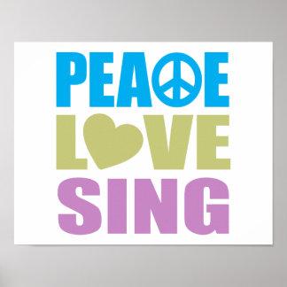 El amor de la paz canta poster