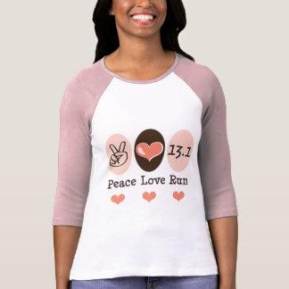 El amor de la paz corre la media camiseta del playera