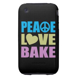 El amor de la paz cuece tough iPhone 3 carcasa