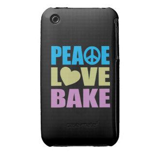 El amor de la paz cuece iPhone 3 Case-Mate cobertura