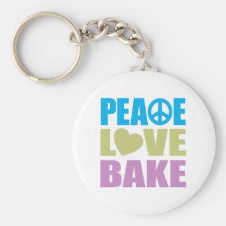 El amor de la paz cuece llaveros