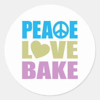 El amor de la paz cuece etiqueta