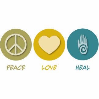 El amor de la paz cura escultura fotográfica