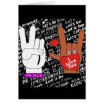 El amor de la paz del ASL nos dejó ser amigos Tarjetón