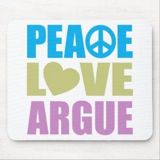 El amor de la paz discute alfombrillas de ratones