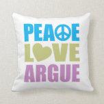 El amor de la paz discute cojin