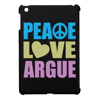 El amor de la paz discute iPad mini funda