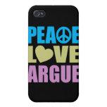 El amor de la paz discute iPhone 4 cárcasas