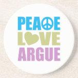 El amor de la paz discute posavasos para bebidas