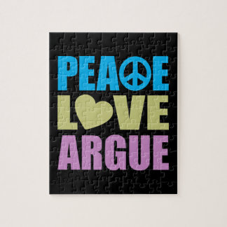 El amor de la paz discute puzzles