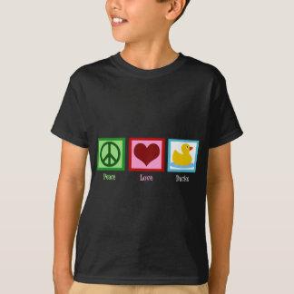 El amor de la paz Ducks la camiseta