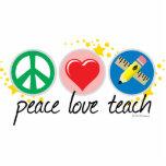 El amor de la paz enseña escultura fotográfica