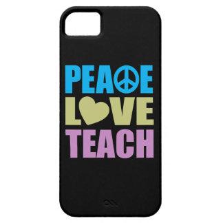 El amor de la paz enseña iPhone 5 Case-Mate protector