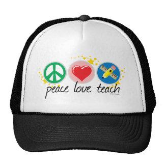 El amor de la paz enseña gorros