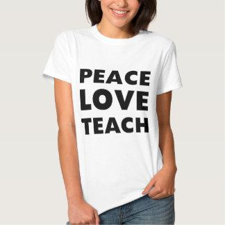 El amor de la paz enseña playera