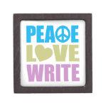 El amor de la paz escribe caja de joyas de calidad