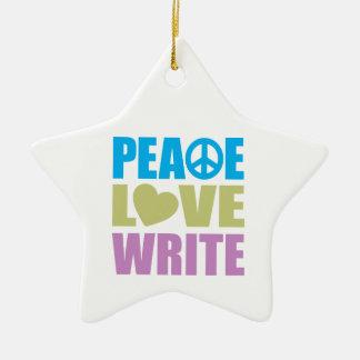 El amor de la paz escribe adorno de reyes