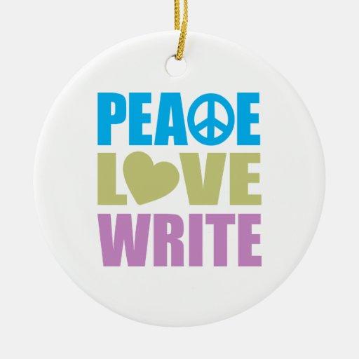 El amor de la paz escribe ornamentos para reyes magos