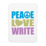 El amor de la paz escribe imanes