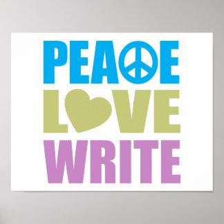 El amor de la paz escribe póster