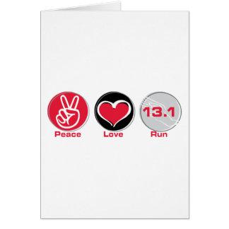 El amor de la paz funciona con 13,1 millas tarjeta de felicitación